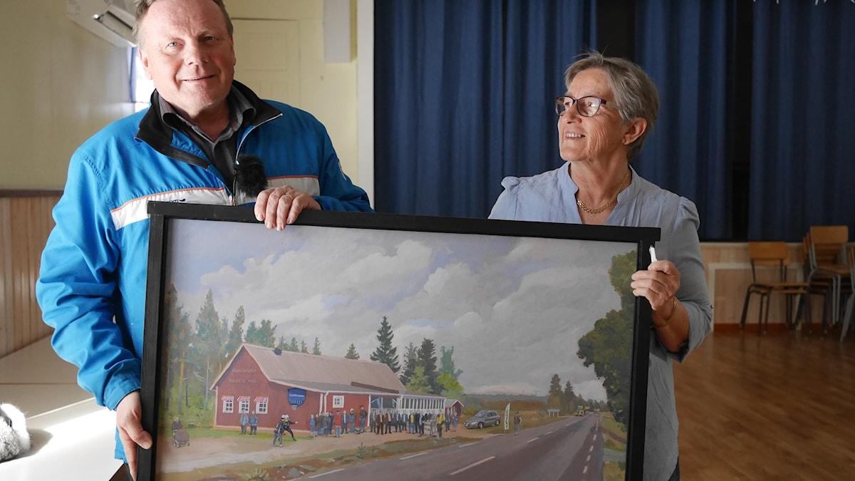 Bengt Niska och Gerda Uusitalo i Folkets hus i Kaunisvaara