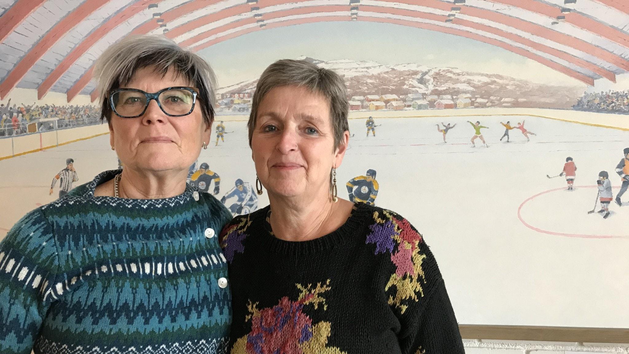 Porträtt på Runa Tiala och Susanna Leijer