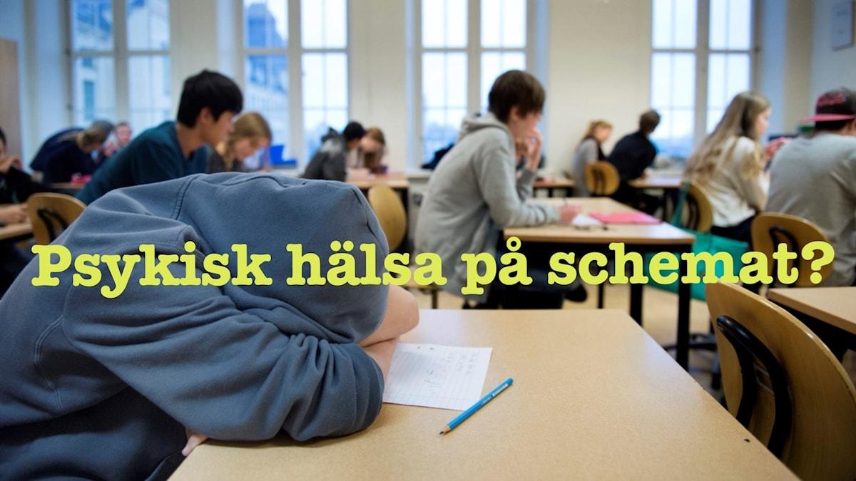 Ska den svenska skolan ha psykisk hälsa på schemat?