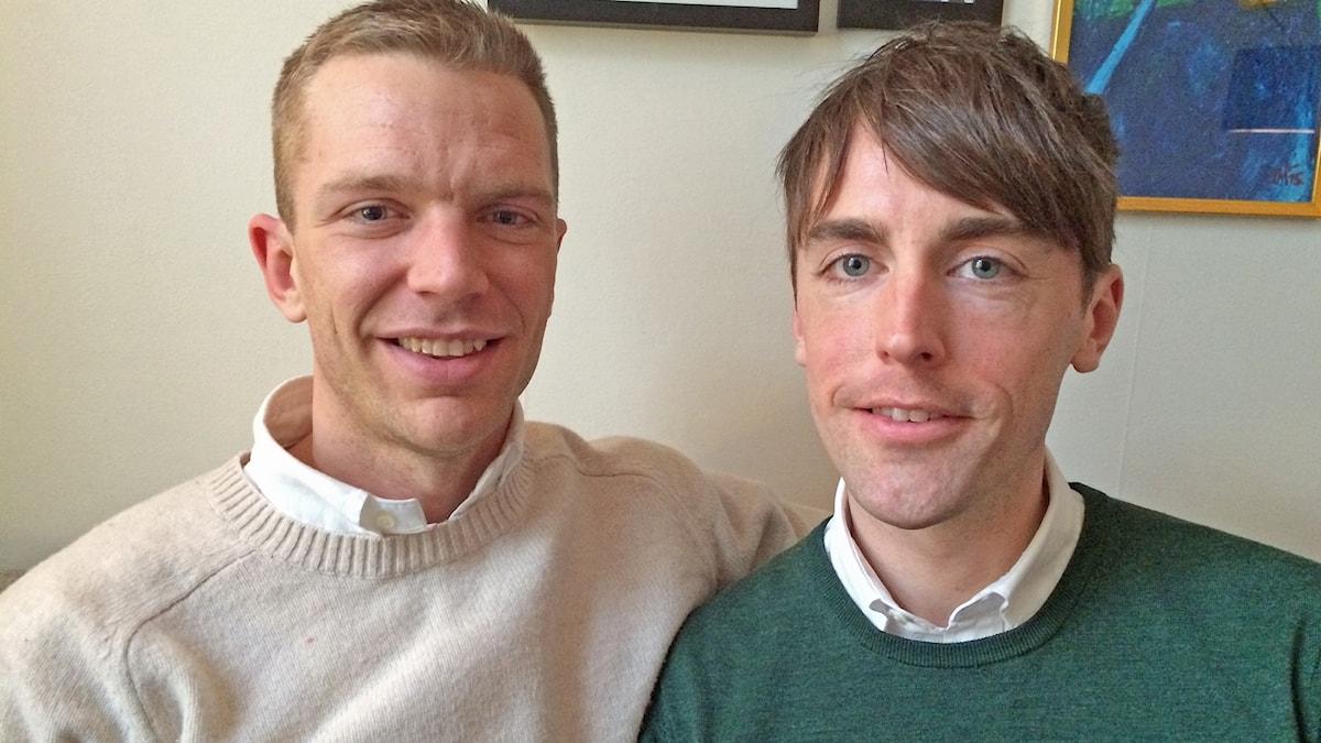 Oscar Kjellberg och Niclas Holmberg