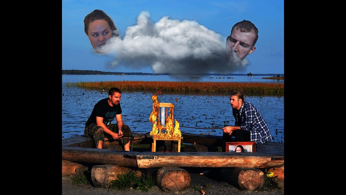 Bränn en stol