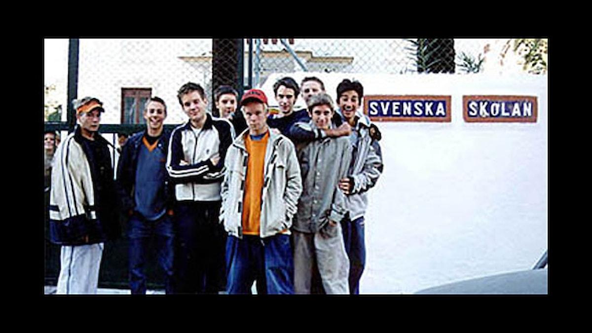 Bild från Svenska Skolan i dokumentären Jävla vitskallar, från 2002. Foto: Sveriges Radio.