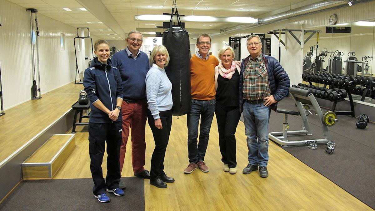 Gym för all världens sjömän på Rosenhill i Göteborg. I det här fallet: Annika Korsbo, Mats Wångdahl, Ulla Sjöstedt, Nils Andréasson, Agneta Swenson och Tomas Walström.