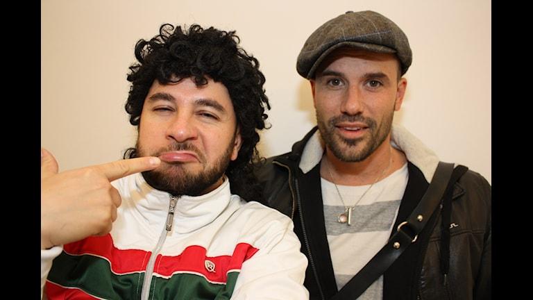 Lilla Al-Fadji och Martin Stenmarck. Foto: Emilia Melgar/ Sveriges Radio