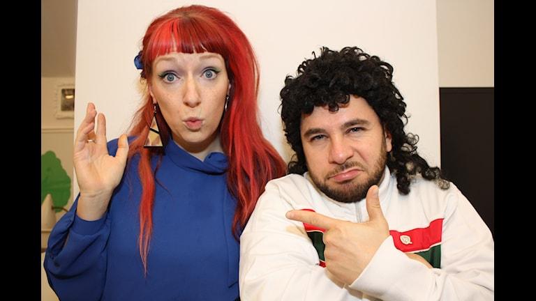 Josefin Johansson och Lilla Al-Fadji. Foto: Emilia Melgar/ Sveriges Radio