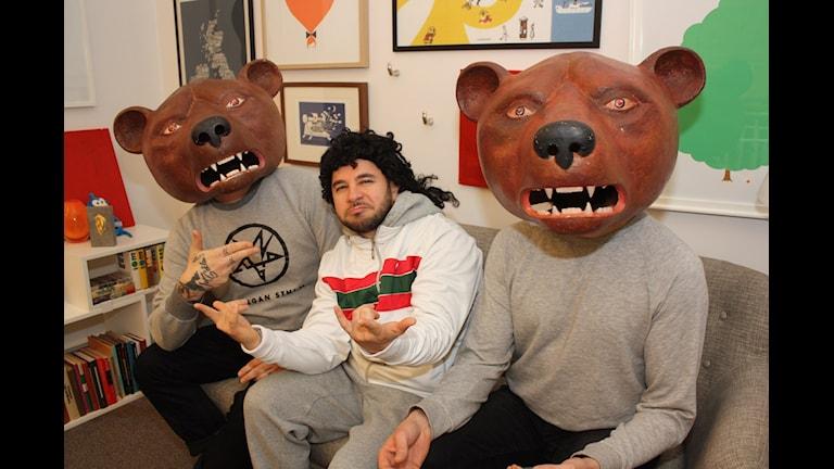 2 av 3 Teddybears hänger med LAF! Foto: Emilia Melgar/ Sveriges Radio