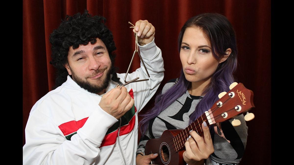 Lilla Al-Fadji och Molly Sandén. Foto: Emilia Melgar/ Sveriges Radio