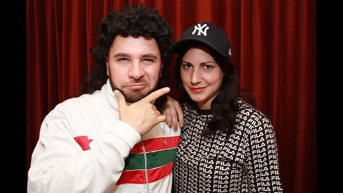 Nour El-Refai och Lilla Al-Fadji. Foto: Emilia Melgar/ Sveriges Radio