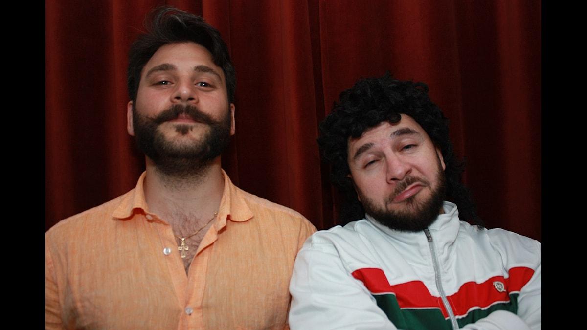 Daniel Boyacioglu och Lilla LAF! Foto: Emilia Melgar/ SR
