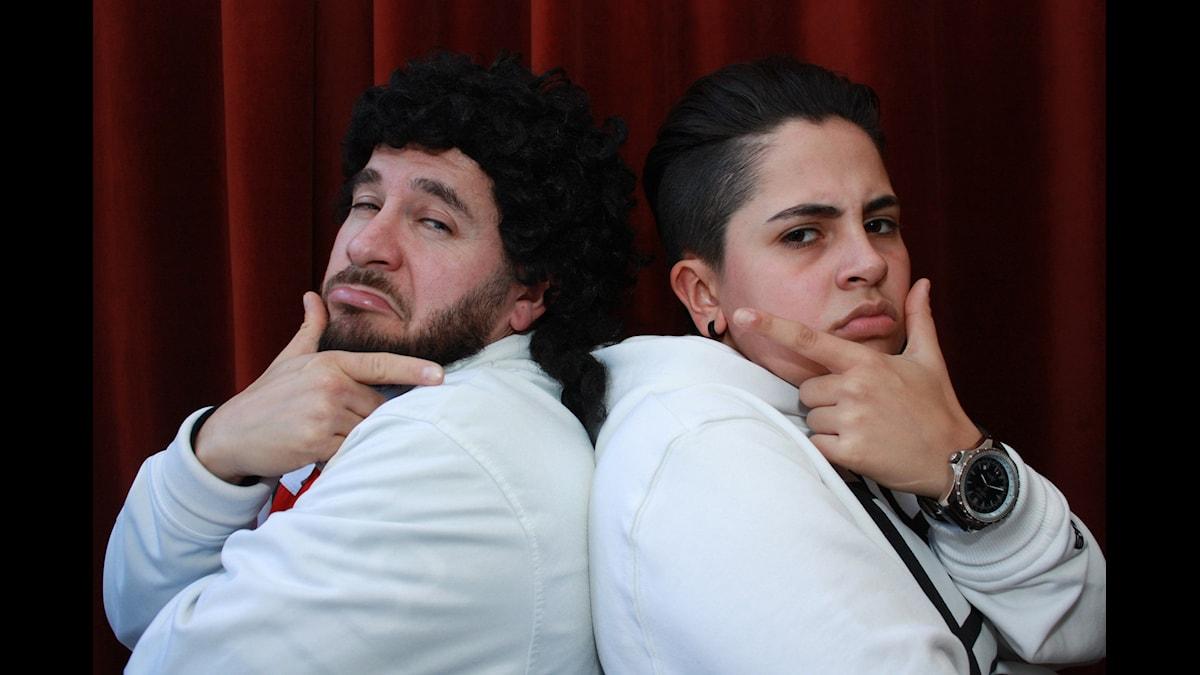 Lilla Al-Fadji och Rosh. Foto: Emilia Melgar/ SR