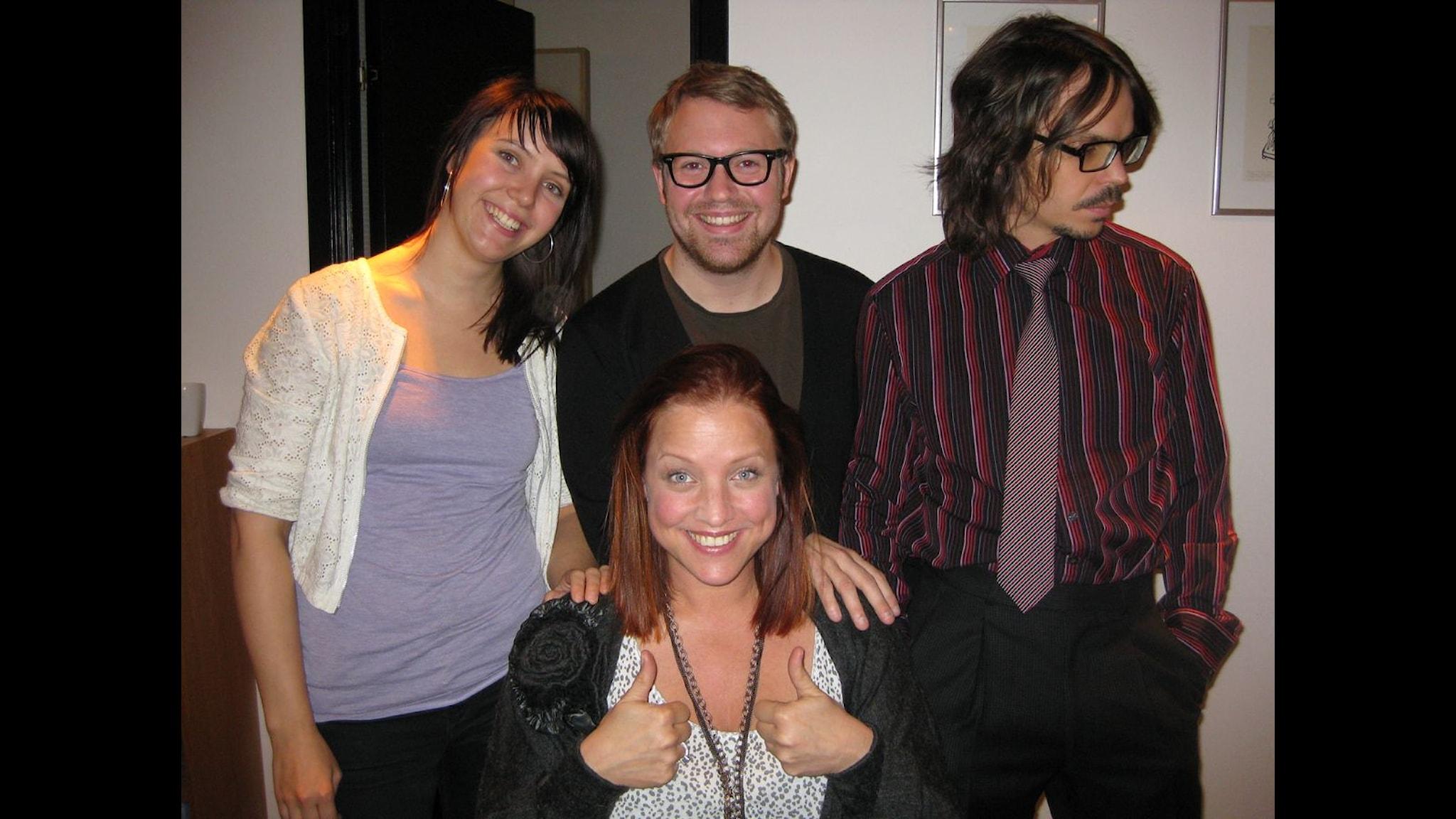 Matilda Kihlberg, Erik Klarén, Jakob Munck och Shirley Clamp.