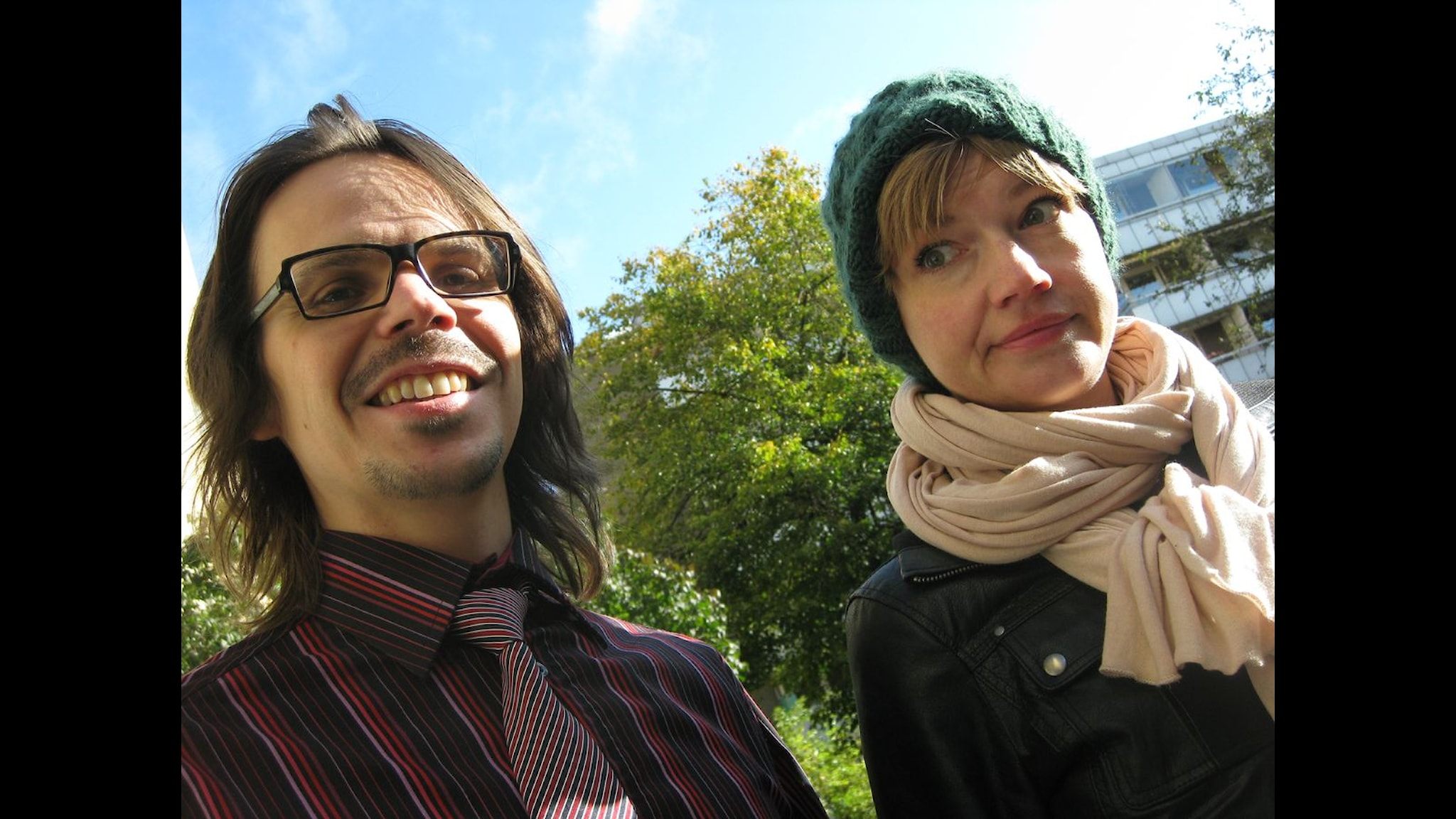 Jakob Munck och Cecilia Frode. Foto: Erik Klarén