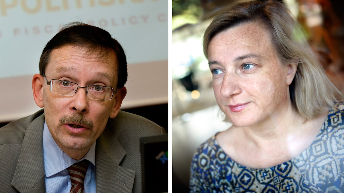 Lars Calmfors och Cecilia Hermansson. Foto: TT
