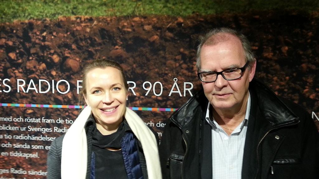 Åsa Olli Segendorf och Tord Strannefors. Foto: Anders Jelmin/Sveriges Radio.