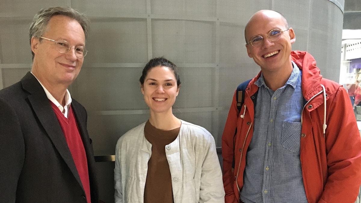 Pontus Braunerhjelm, Paula Roth och Robert Östling.