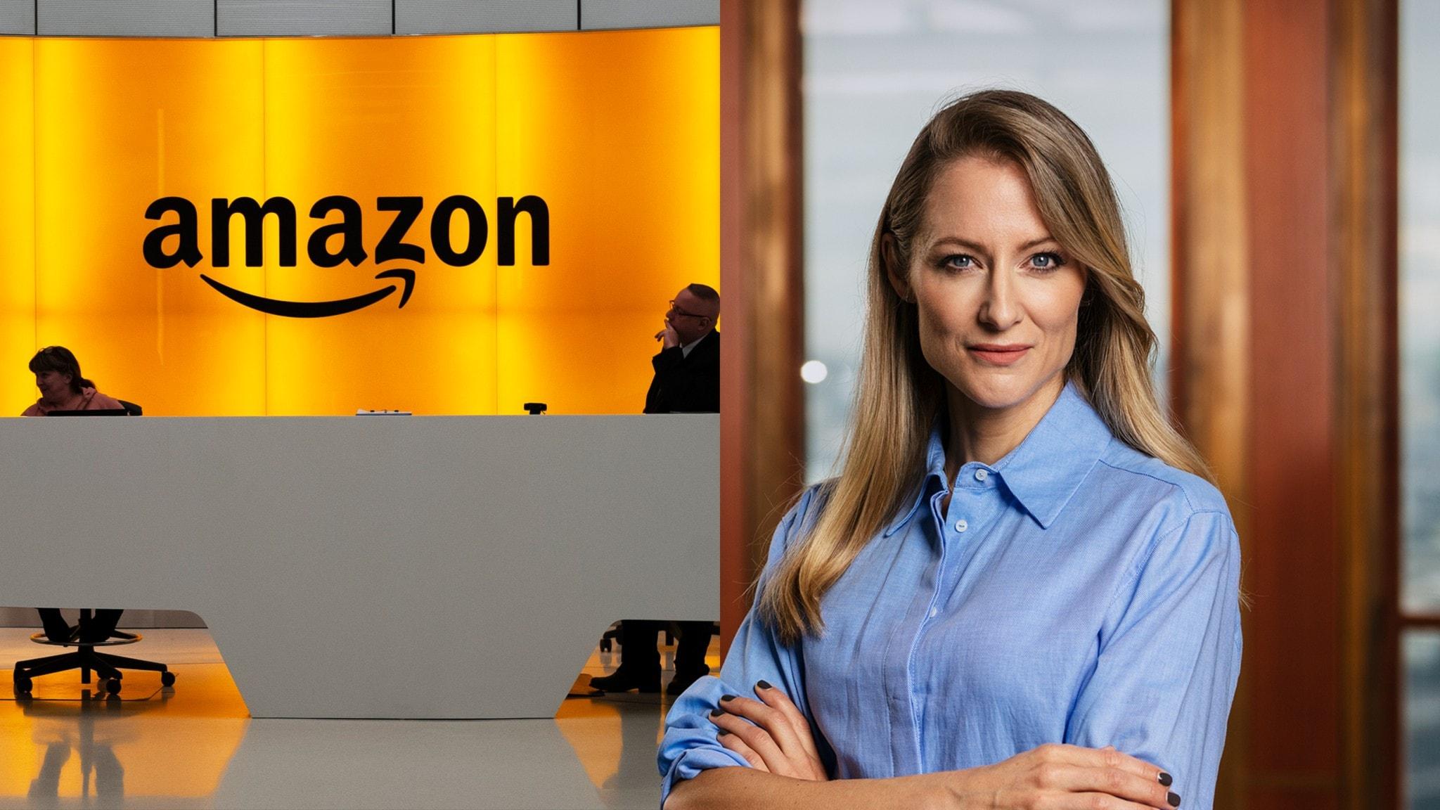 Lobbyn i Amazons kontor i New York