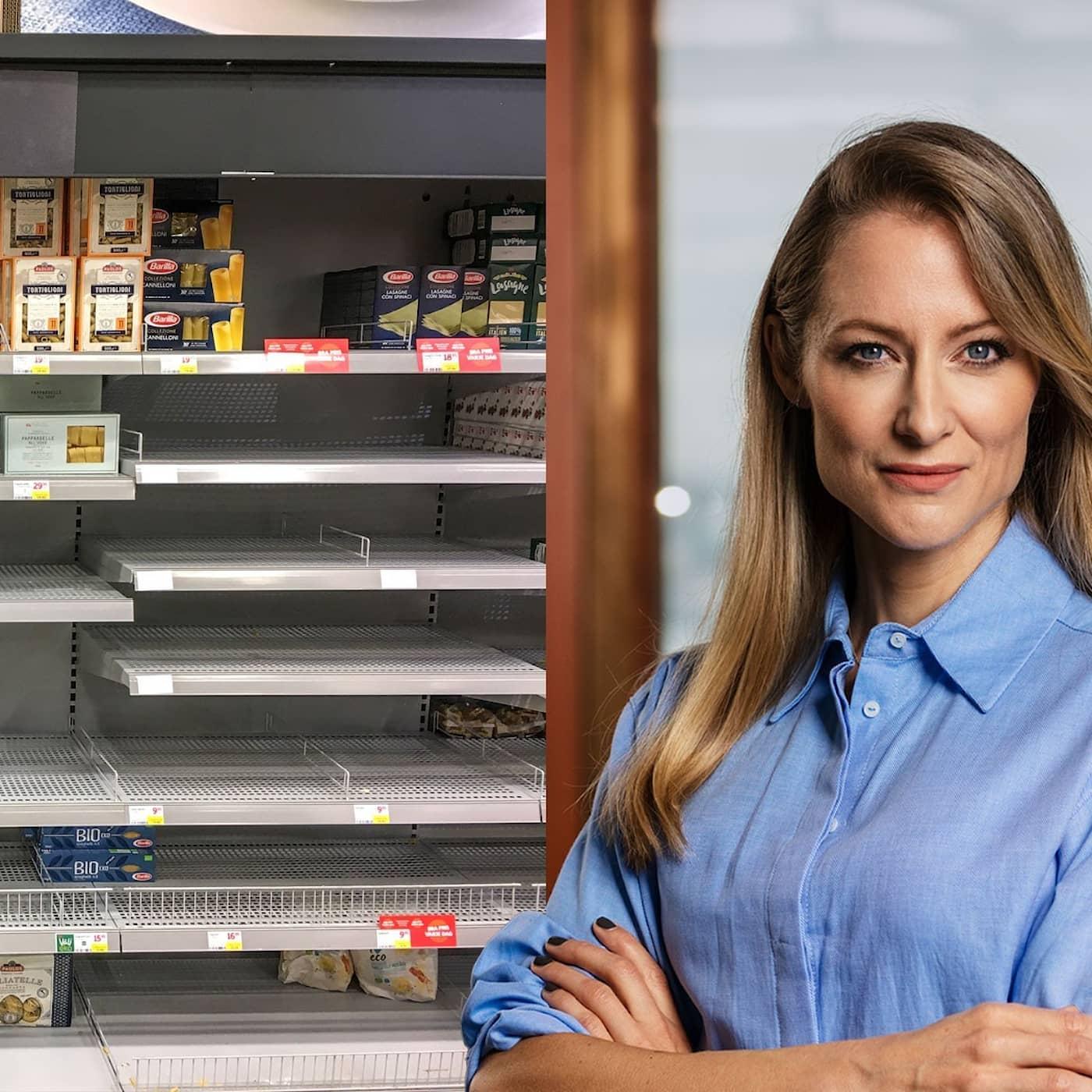 """Börskollaps och hamstring - """"det finns ingen livsmedelsberedskap"""""""