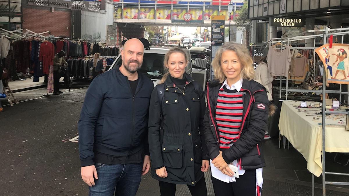 Ekonomiekot Extra i London. Claes Aronsson, Hanna Malmodin och Cecilia Nikpay.