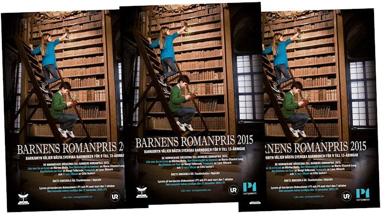 Affischer för Barnens Romanpris 2015.