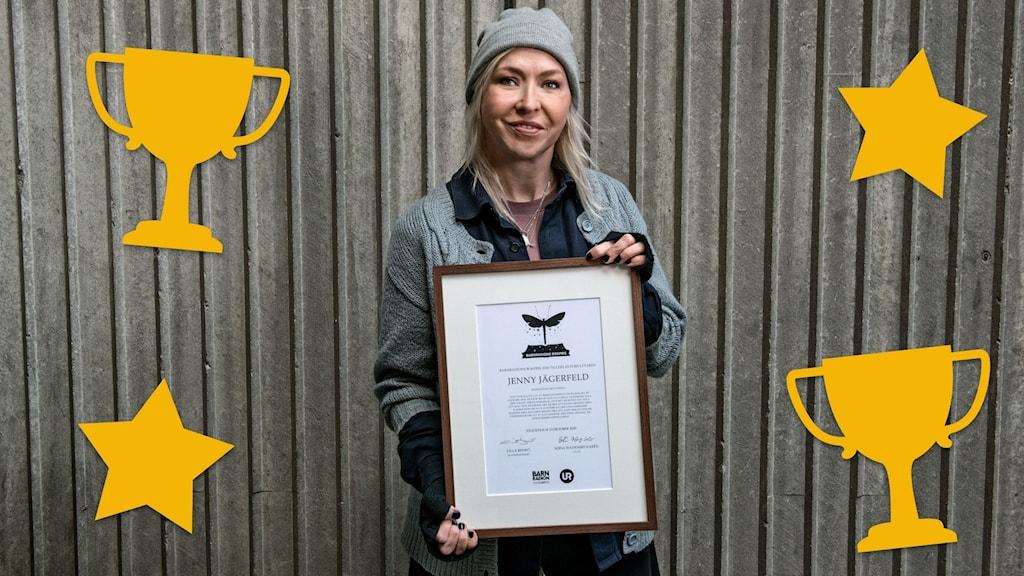 Jenny Jägerfeld vinner Barnradions bokpris 2020