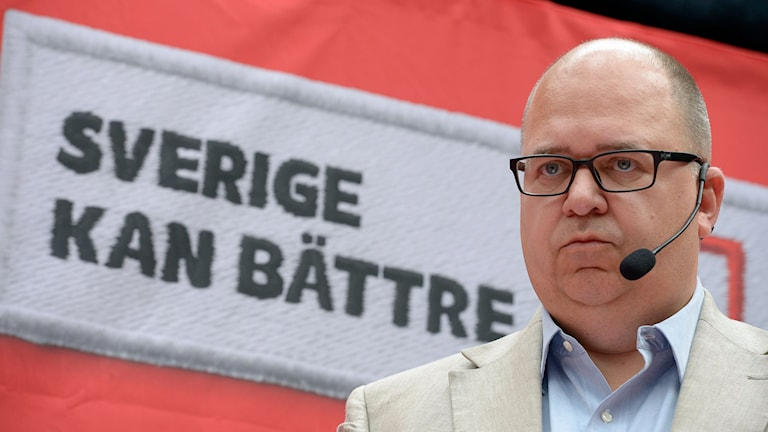 LO-basen Karl-Petter Thorwaldsson. Foto: Janerik Henriksson/TT.