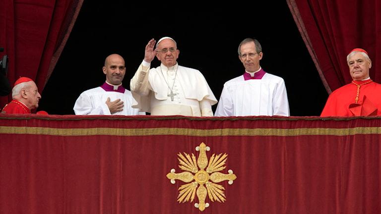Påven Franciskus i Vatikanen. Foto: Alessandra Tarantino / TT