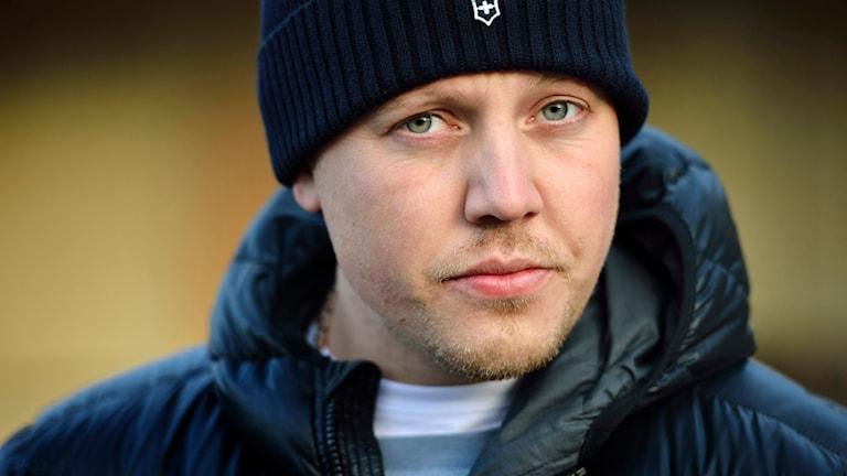 Sebastian 'Sebbe Staxx' Stakset i rapgruppen Kartellen. Foto: Henrik Montgomery/TT
