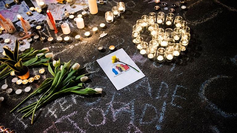 Sorg i Bryssel. Foto: Nora Lorek /TT
