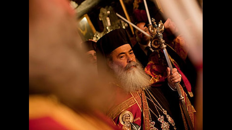 Grek-ortodox julprocession. Foto: Bernat Armangue / Scanpix