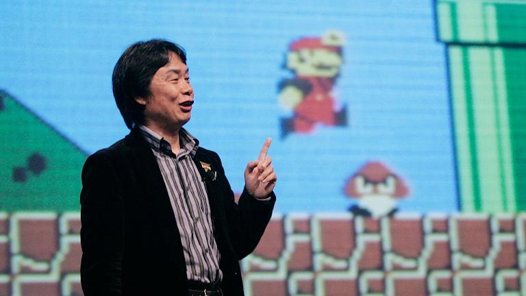 Shigeru Miyamoto, skapare av Super Mario. Foto: Paul Sakuma/TT