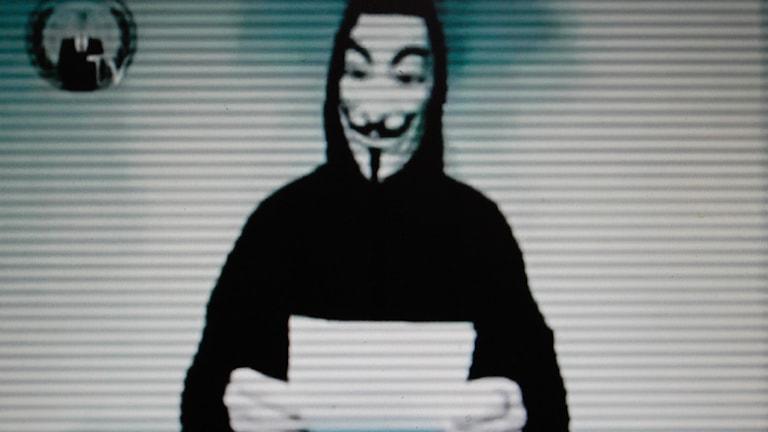 Anonymous. Foto: AP Photo/Petros Giannakouris.