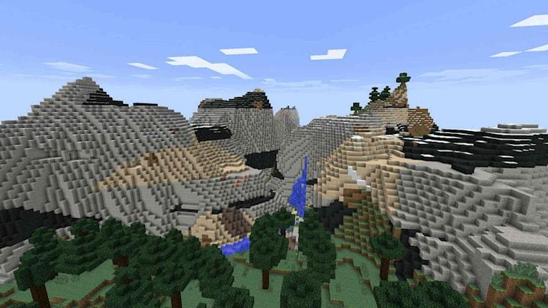 Bilder från TV-spelet Minecraft