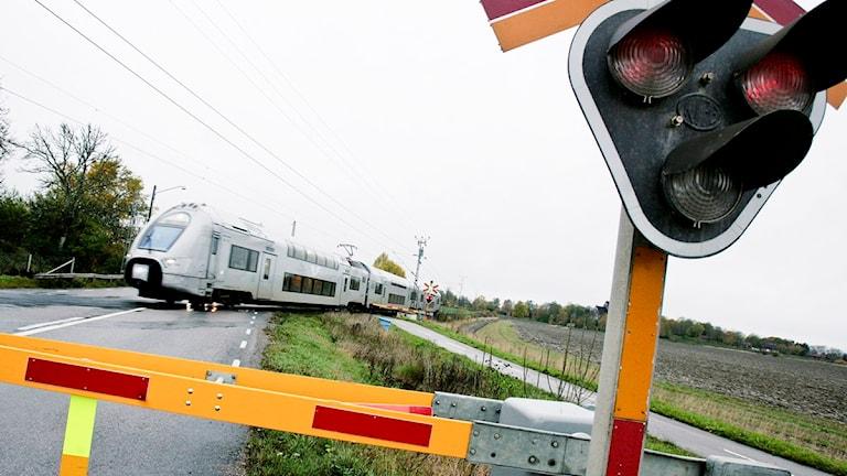 Ett tåg kommer. Foto: Fredrik Sandberg/scanpix.
