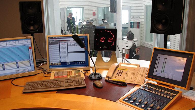 Radio Gotlands studio 4. Foto: Henrik Wallenius/SR Gotland