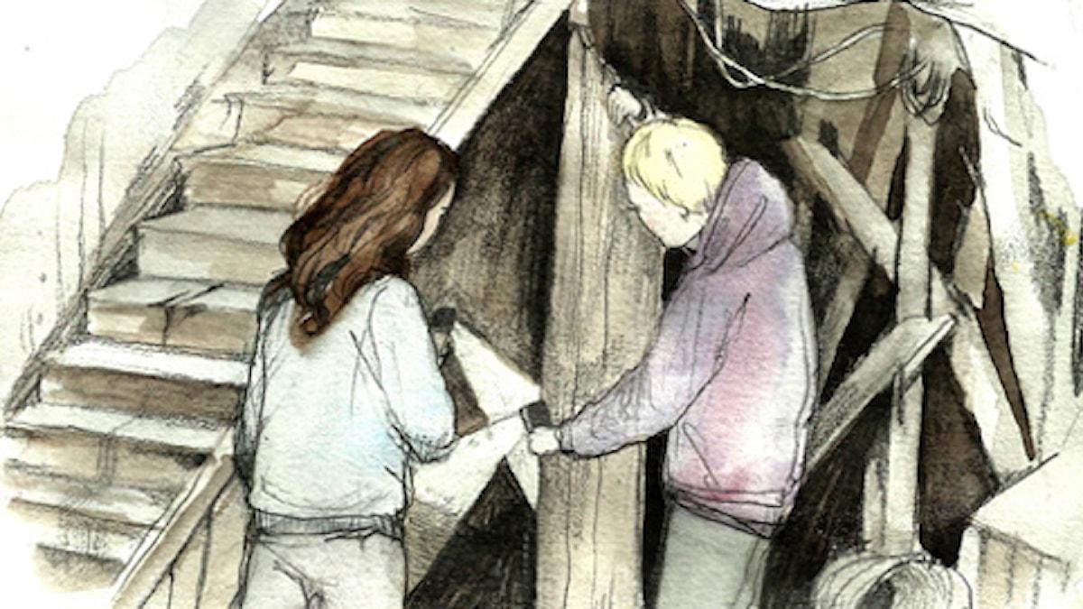 Blodspår, del 2. Spänning. Illustration: Matilda Ruta / Sveriges radio