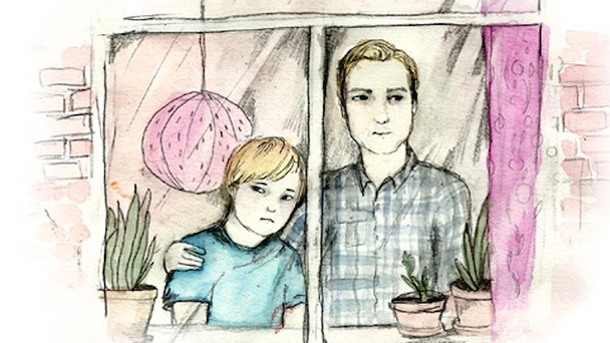 Blodspår, del 3. Spänning. Illustration: Matilda Ruta / Sveriges radio
