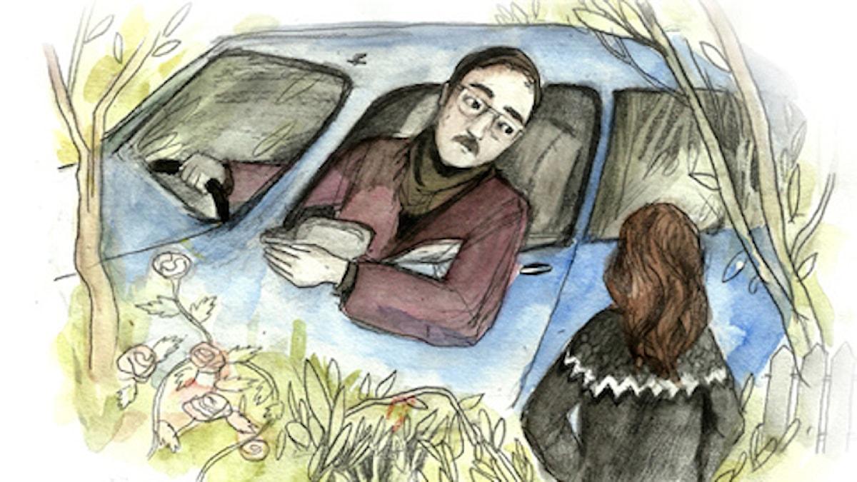 Blodspår, del 4. Spänning. Illustration: Matilda Ruta / Sveriges radio