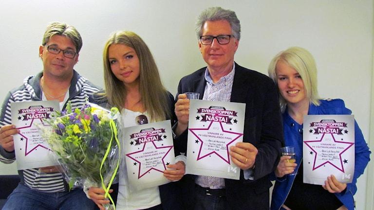 Svensktoppen Nästa 2012 vinnare. Foto: Samira Jonsson/SR.