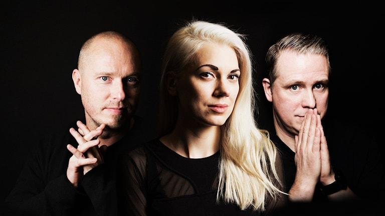 Pierre Martin, Sandra Mickelsson, Pelle Moeld  Foto: Mattias Ahlm SR