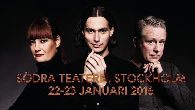 Årets programledare är Lisa Wall, Samir Yosufi, Pelle Moeld.  Foto: Mattias Ahlm/Sveriges Radio