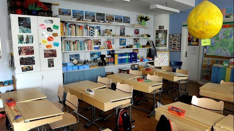 Bild på klassrum