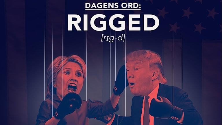 Clinton och Trump boxas