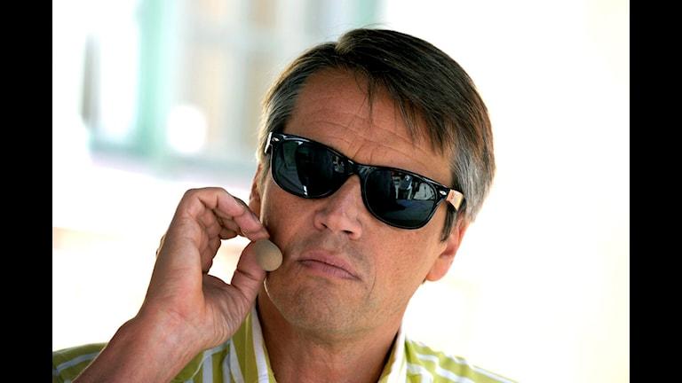 Göran i Almedalen. En bild som han också har som profilbild på Twitter. FOTO: SCANPIX