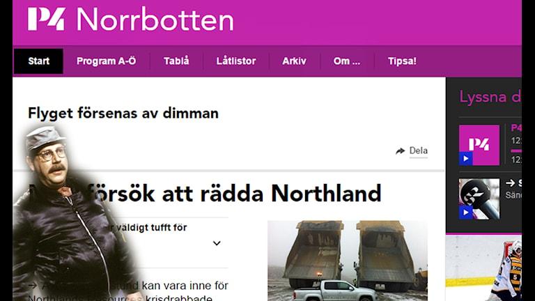 P4 Norrbotten är superarga på Johannes för han skojat - på skånska. Foto: SVT bild samt Sveriges Radio
