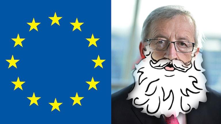 Ingen blev lyckligare efter julklappsutdelningen. Foto: European Commission