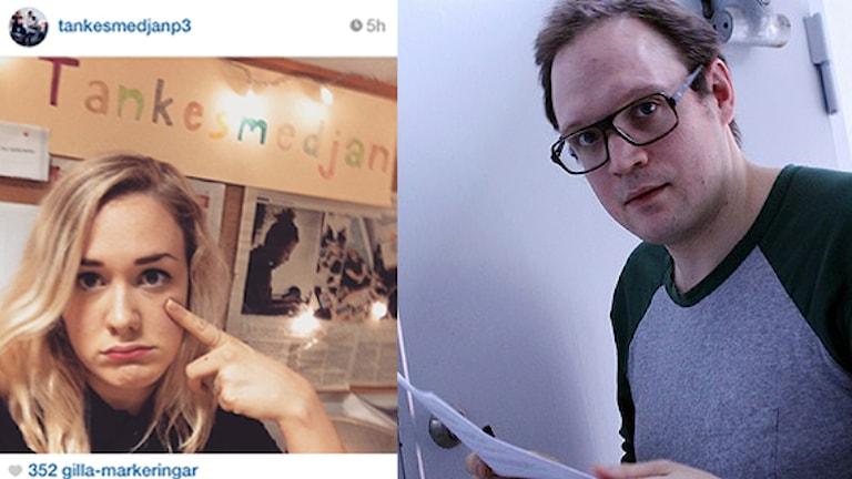 Jonatan har tänkt på Moas tid hos Tankesmedjan. Foto: Sveriges Radio
