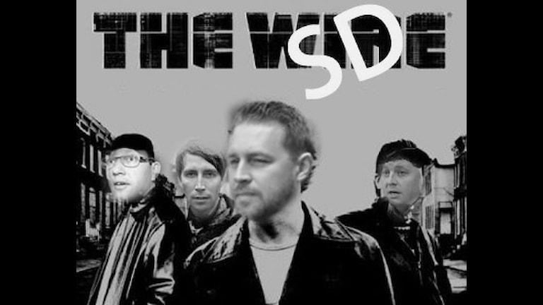 Affisch från tv-serien The Wire. Ansiktena är utbytta mot Jimmie Åkesson, Björn Söder samt Richard Jomshof och Mattias Karlssons.