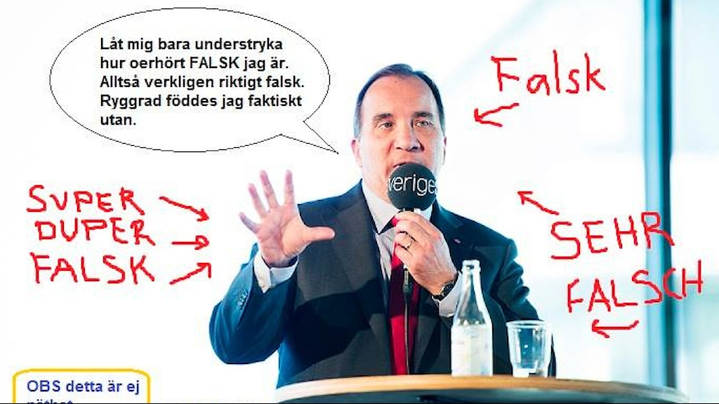 Statsministern. Foto: Sveriges Radio