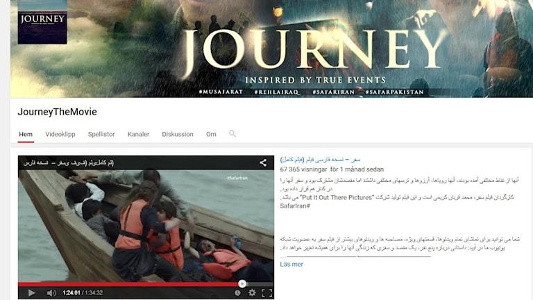 Skärmdump från Journey The Movies youtubesida.