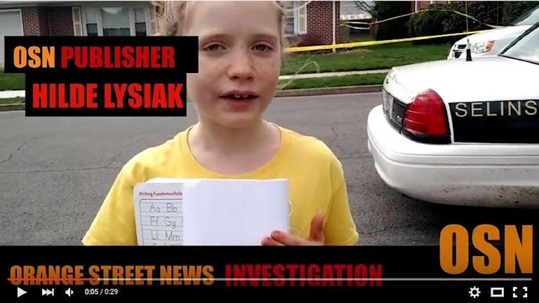Hilde Lysiak rapporterar från en misstänkt mordplats.
